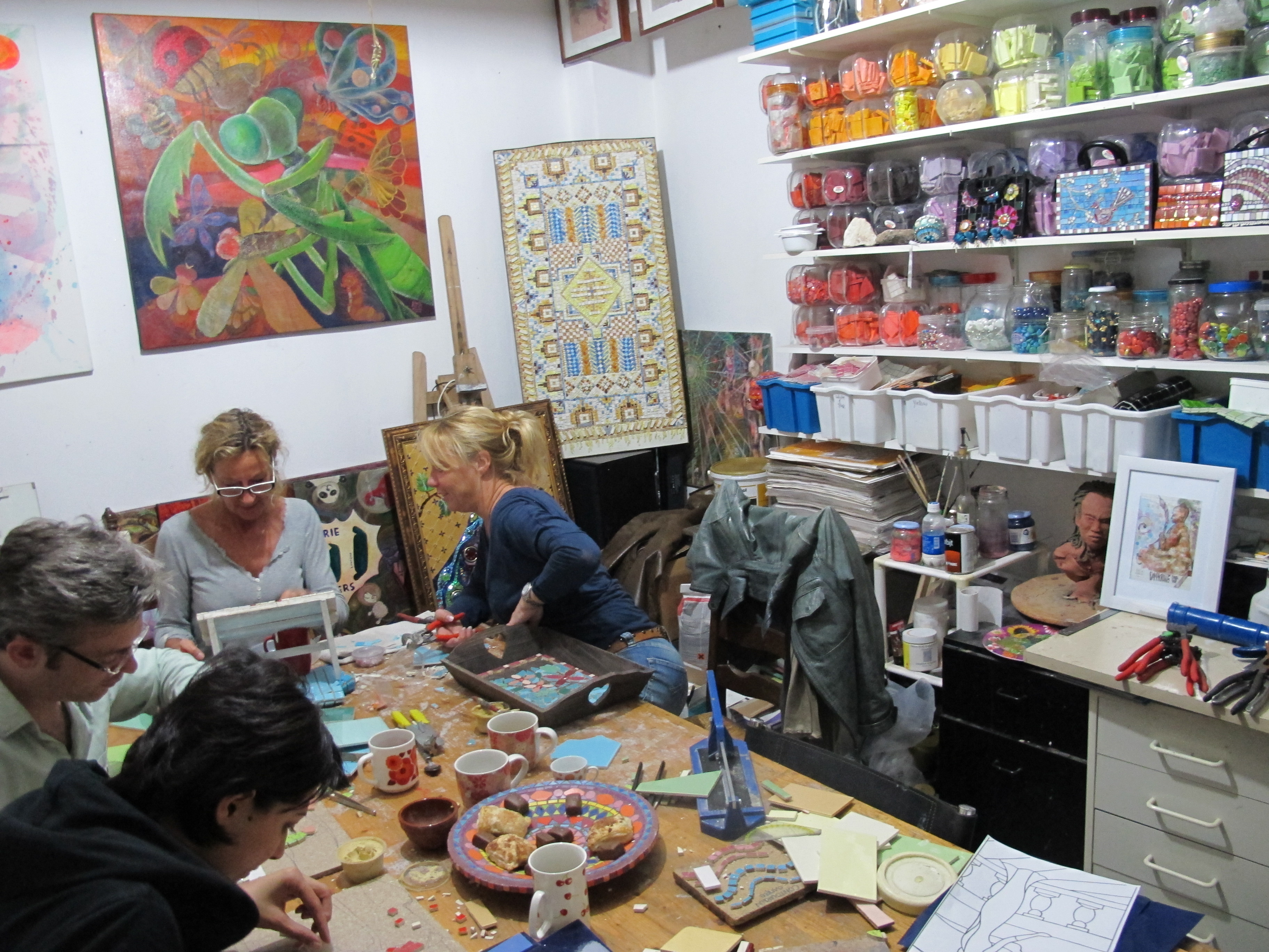Glas Mozaiek Tegels : Workshop tegel glasmozaiek mandalay design
